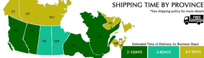 Hitchweb Canadian Shipping Times